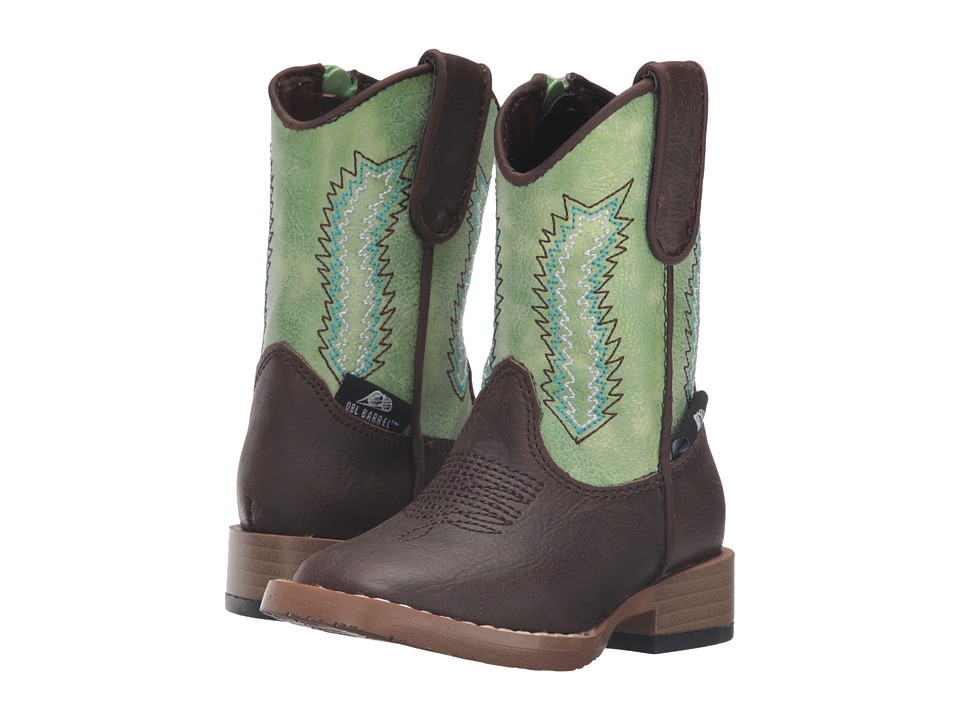M&F Western - Wyatt (Toddler) (Brown/Green) Cowboy Boots