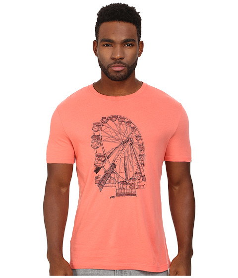 Original Penguin - Pete's Ferris Wheel Heritage Tee (Georgia Peach) Men's T Shirt