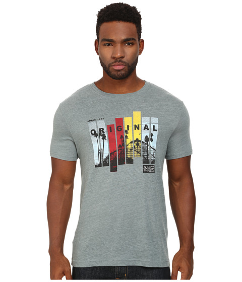 Original Penguin - The Vertical Frame Photo Heritage Tee (Trooper) Men