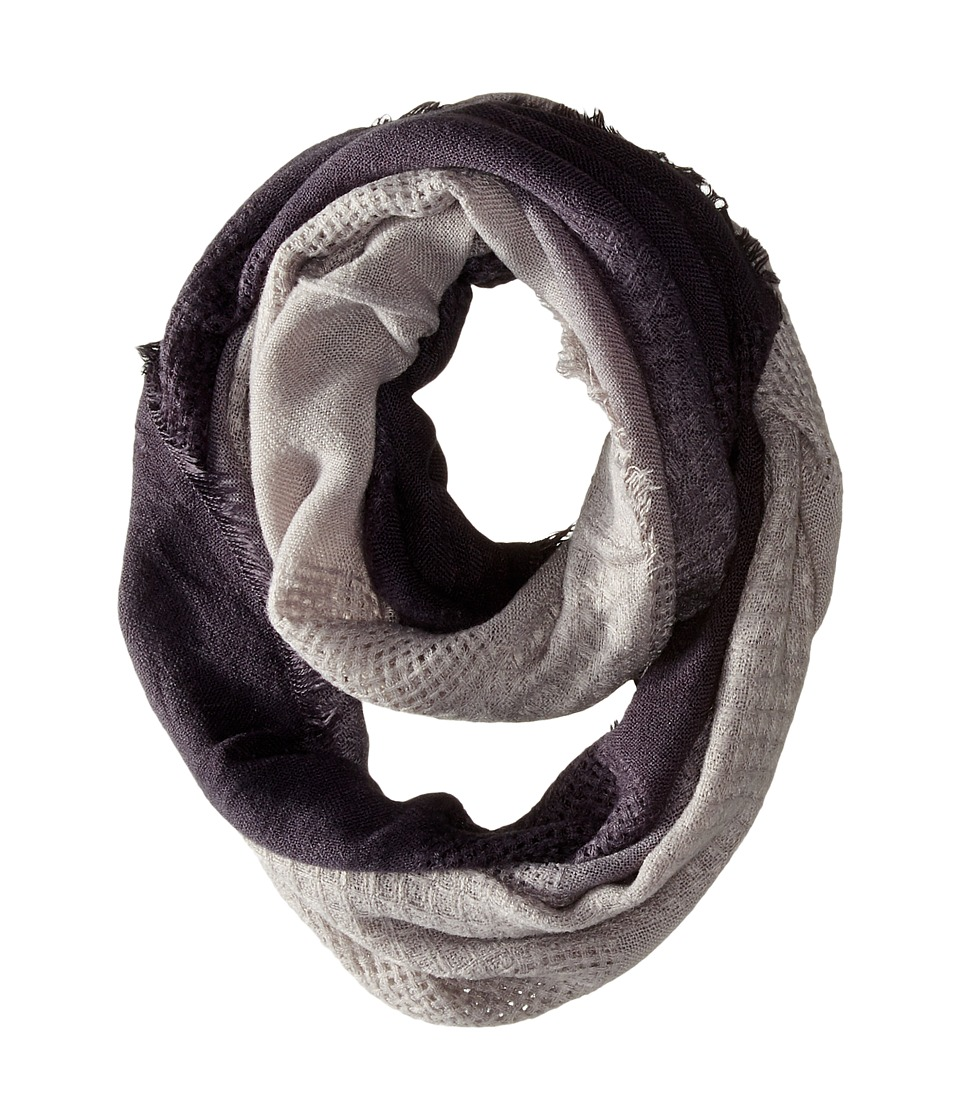 Michael Stars - Textured Frontier Eternity Scarf (Black) Scarves