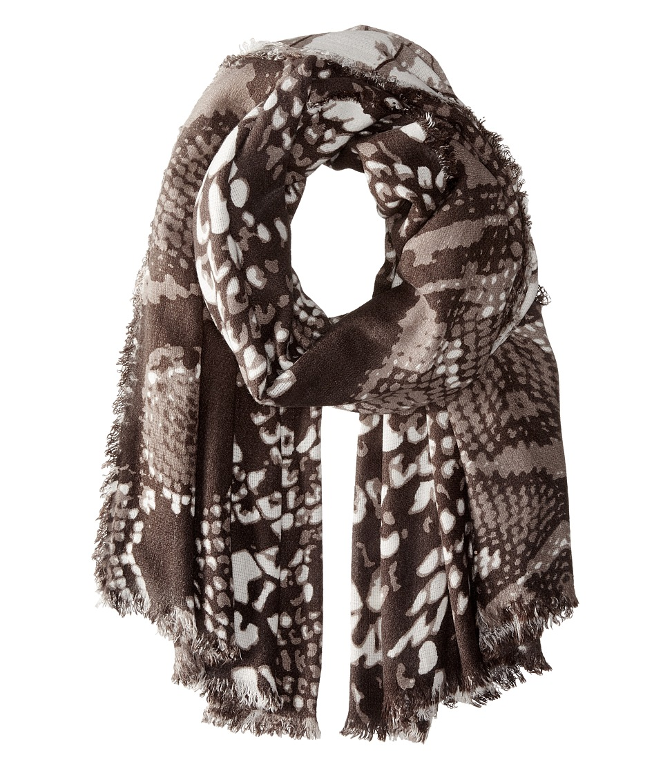 Michael Stars - Oversized Snake Wrap (Black) Scarves