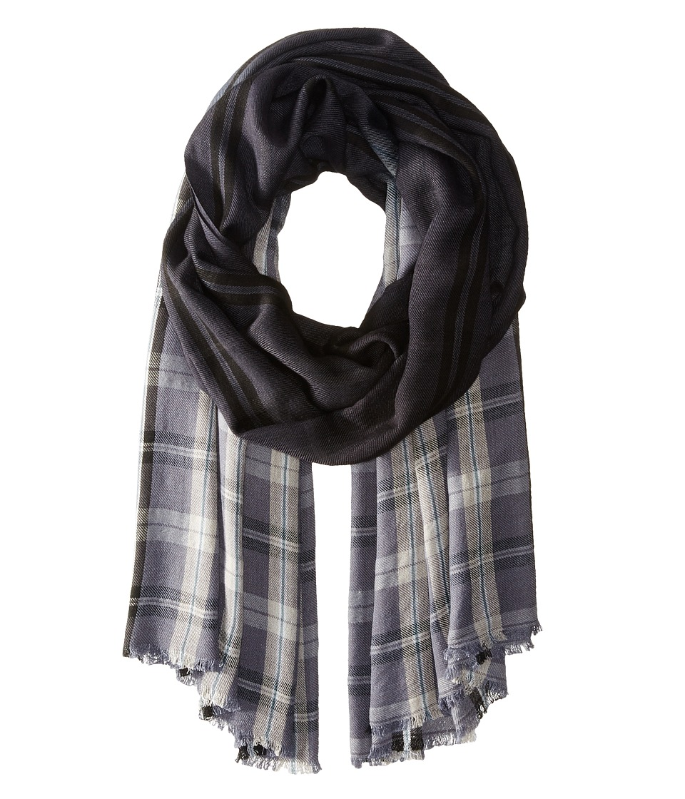 Michael Stars - Dipped In Plaid Wrap (Black) Scarves