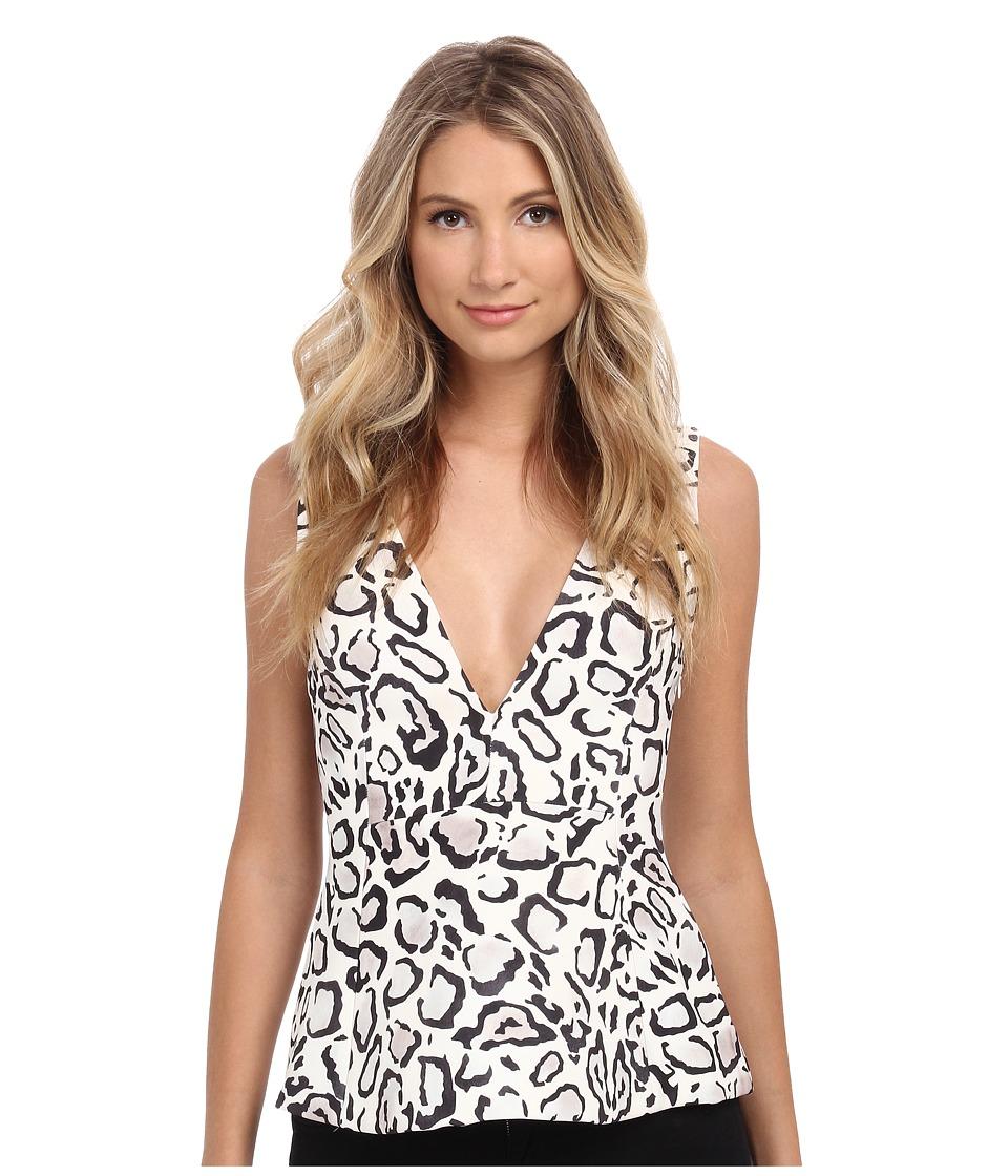 StyleStalker - Ocelot Peplum Top (Ocelot) Women's Clothing