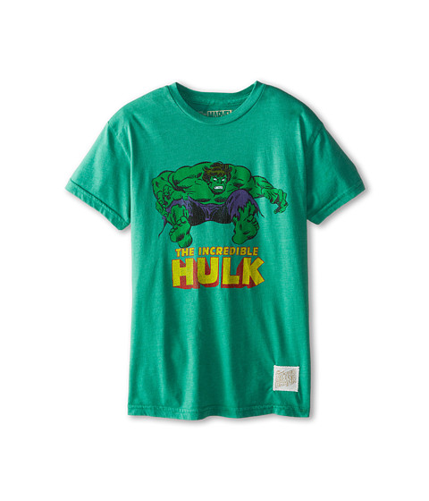 The Original Retro Brand Kids - Incredible Hulk Heather Tee (Big Kids) (Heather Sprite) Boy