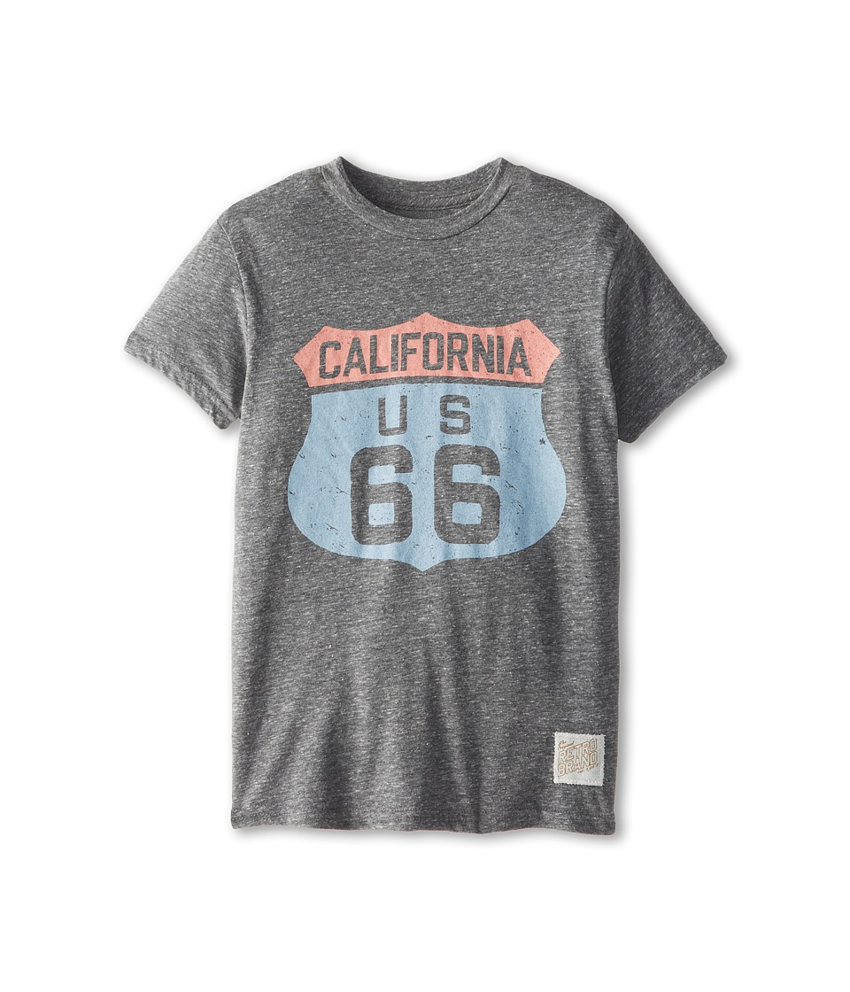 The Original Retro Brand Kids - Cali 66 T-Shirt (Big Kids) (Streaky Grey) Boy's T Shirt