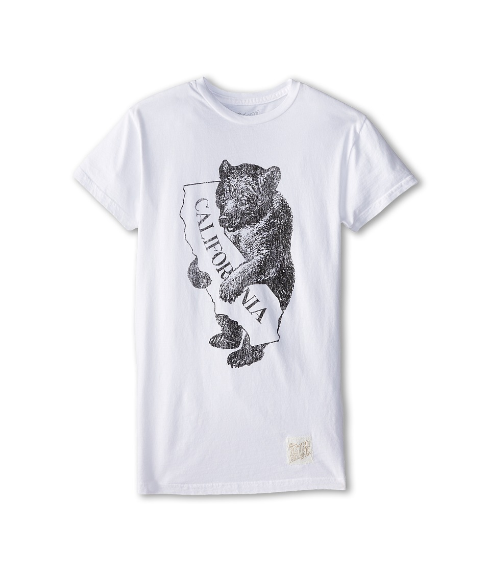 The Original Retro Brand Kids - Cali Bear Worlds Best Tee (Big Kids) (White) Boy