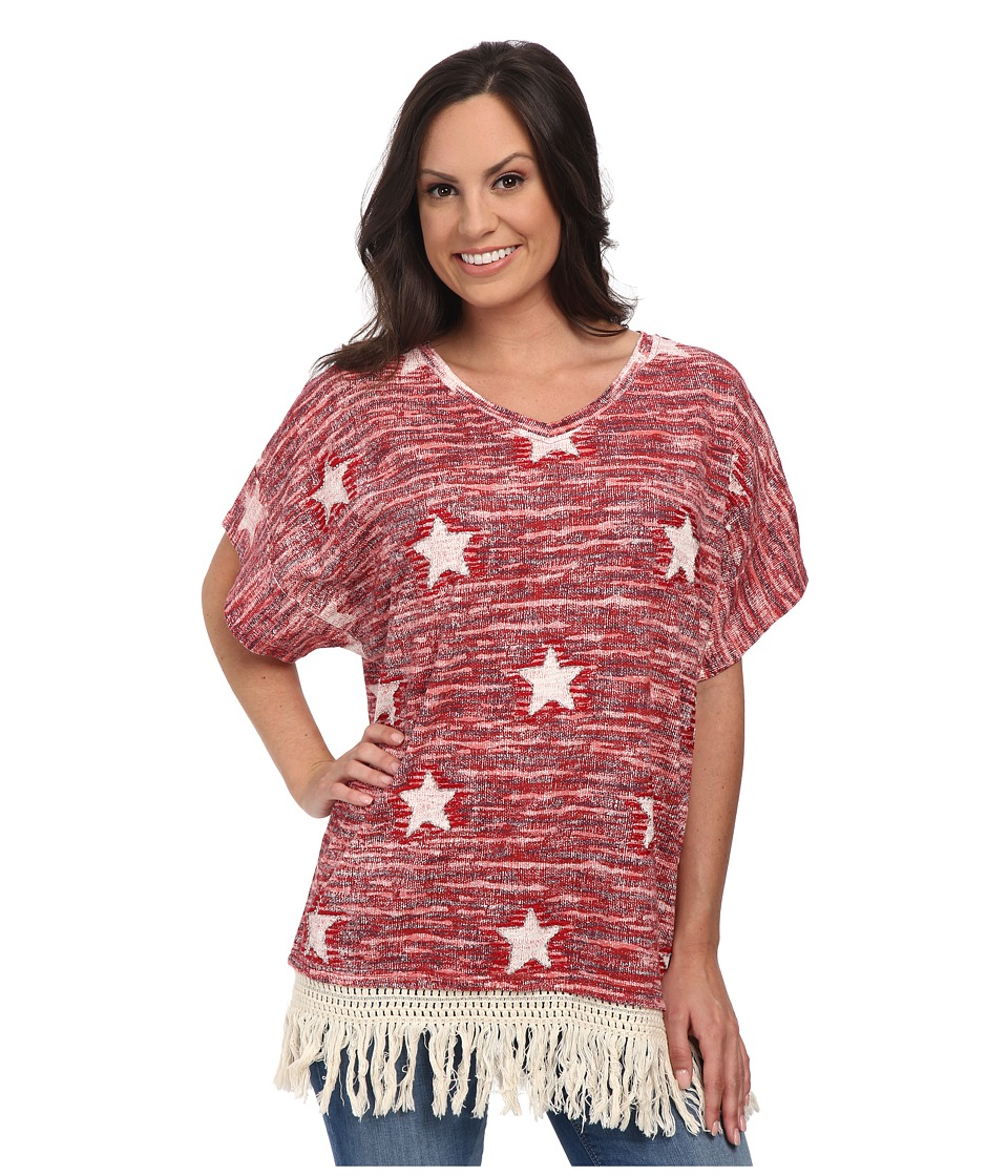 Double D Ranchwear - Sets in The West Top (Red Bandana) Women's Short Sleeve Pullover