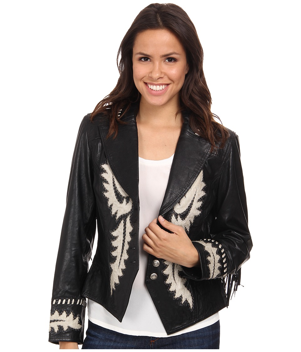 Double D Ranchwear - Frank's Boots Jacket (Black) Women's Coat