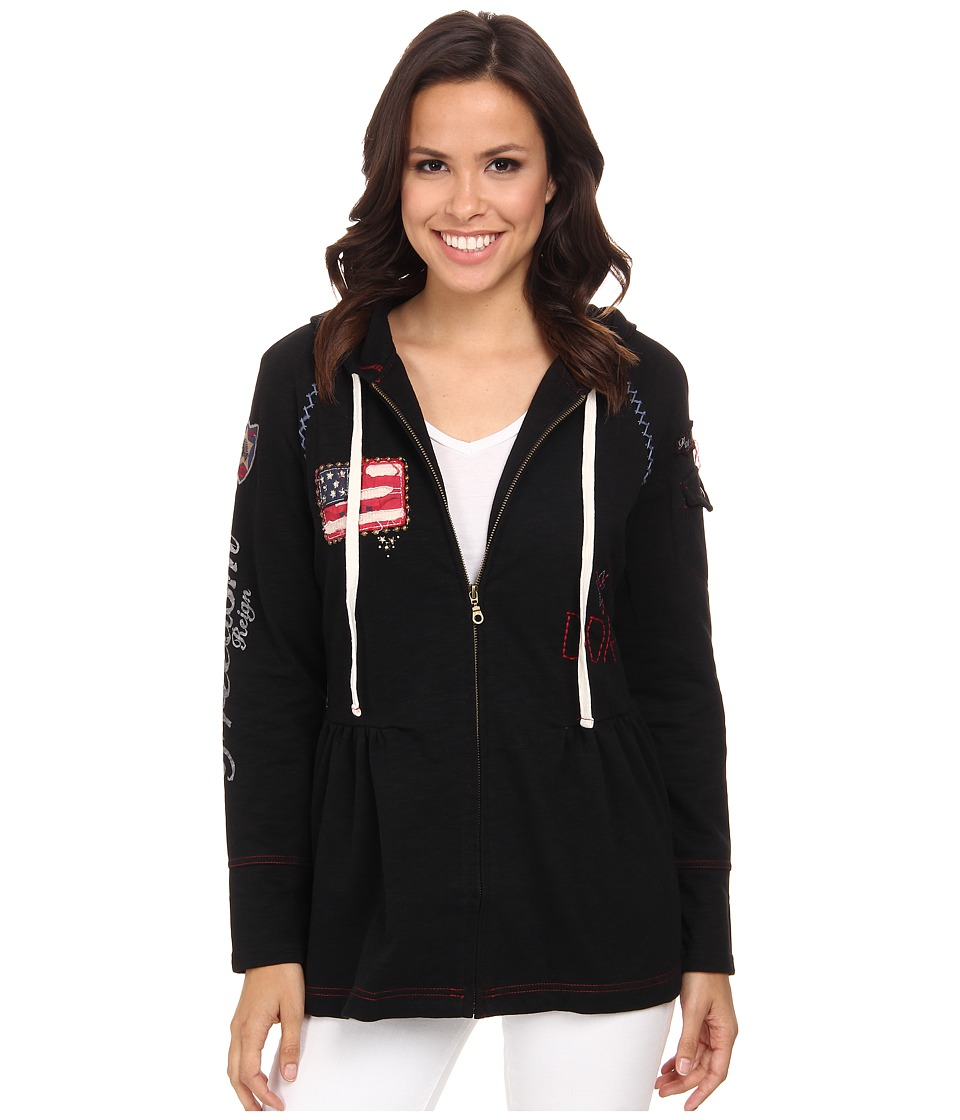 Double D Ranchwear - Free Because of The Brave Jacket (Black) Women's Sweatshirt