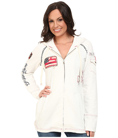 Double D Ranchwear - Free Because of The Brave Jacket (String) Women's Sweatshirt