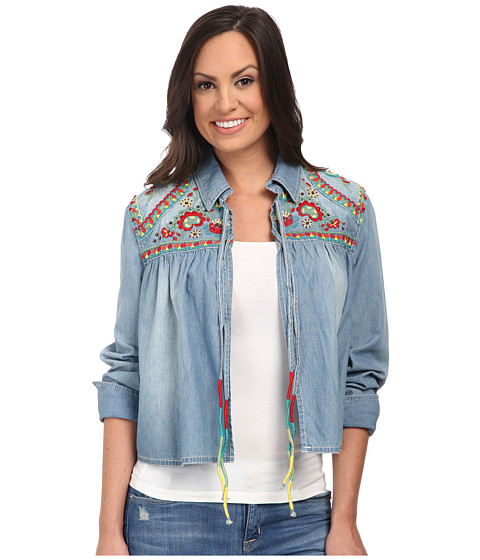 Double D Ranchwear - Jacona Jacket (Light Denim) Women's Coat