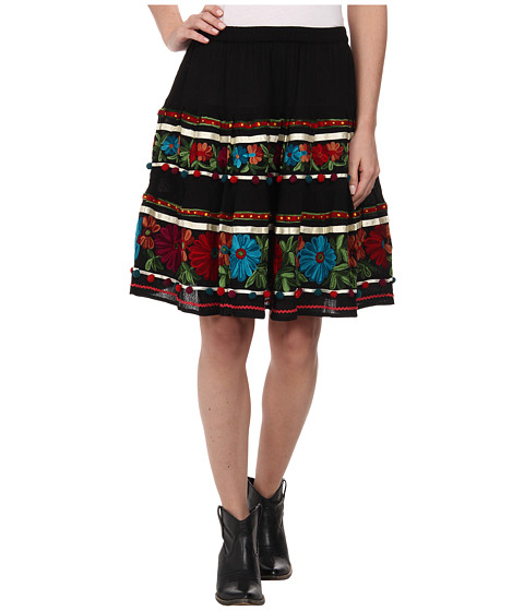 Double D Ranchwear - Rodeo Dances Skirt (Black) Women's Skirt