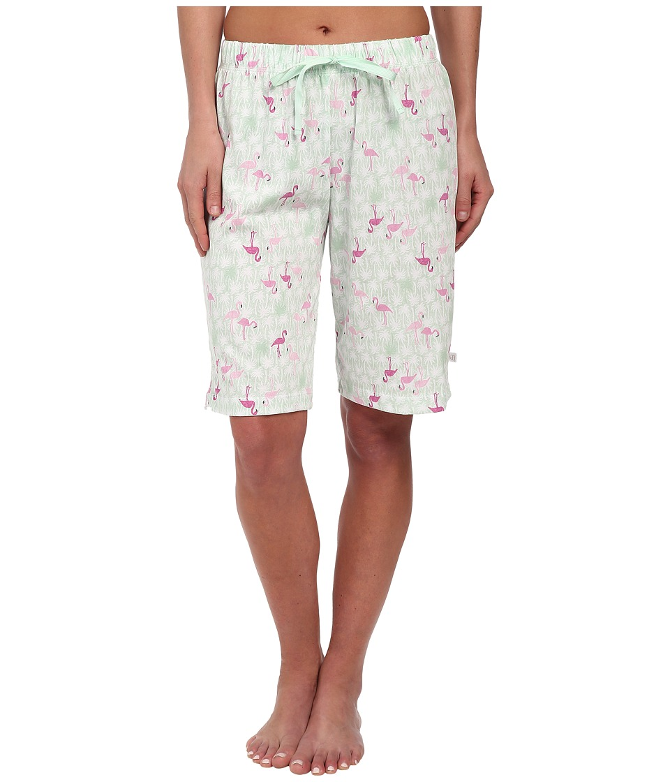 Karen Neuburger - Miami Heat Bermuda Shorts (Novelty/Green) Women's Pajama plus size,  plus size fashion plus size appare