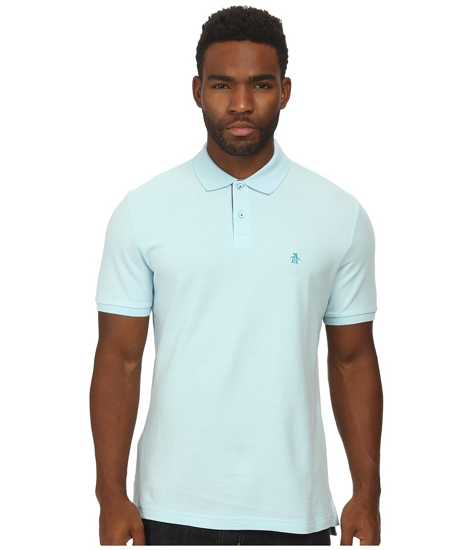 Original Penguin - Daddy-O Polo (Cool Blue) Men's Short Sleeve Pullover
