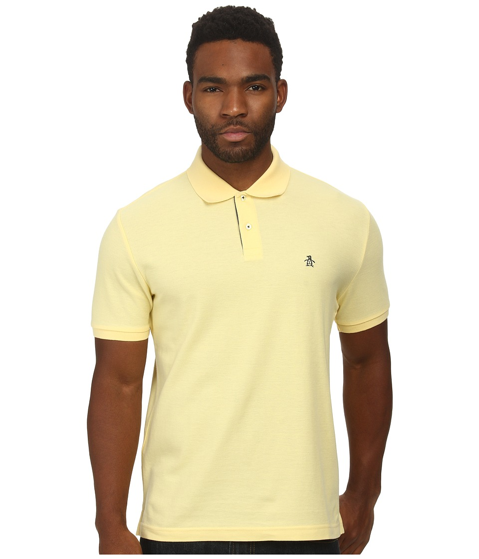 Original Penguin - Daddy-O Polo (Lemon Meringue) Men's Short Sleeve Pullover