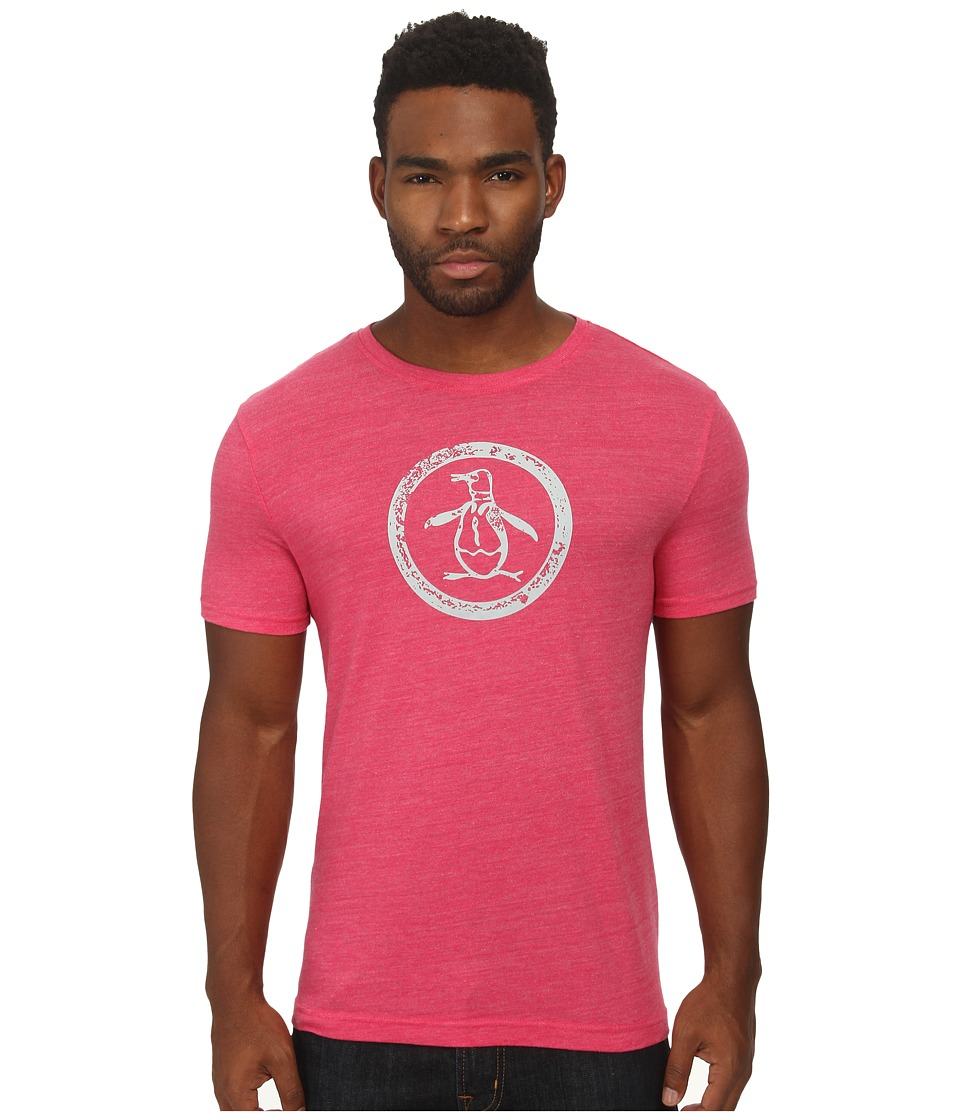 Original Penguin - Triblend Distressed Circle Logo Tee (Jazzy) Men's T Shirt