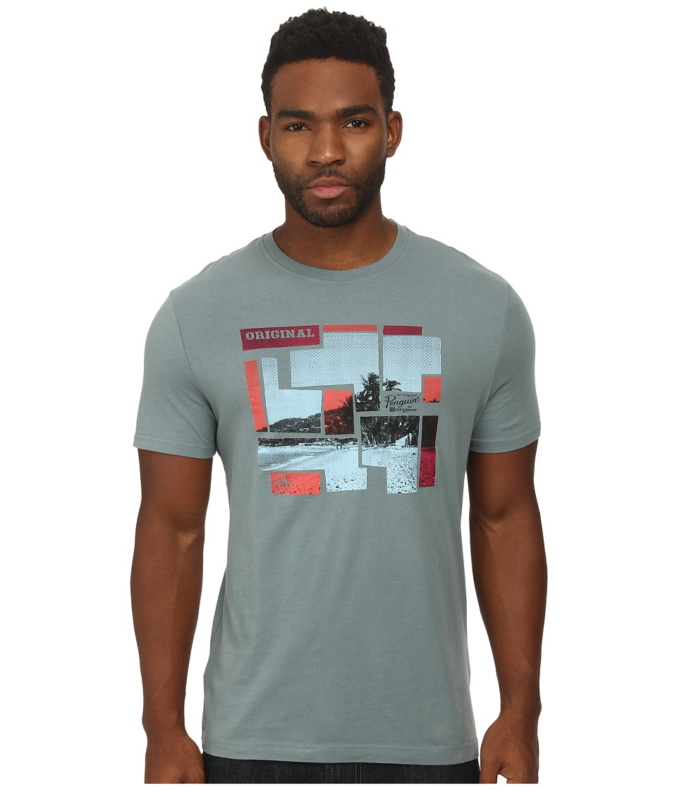 Original Penguin - The Block Photo Frame Heritage Tee (Trooper) Men's T Shirt