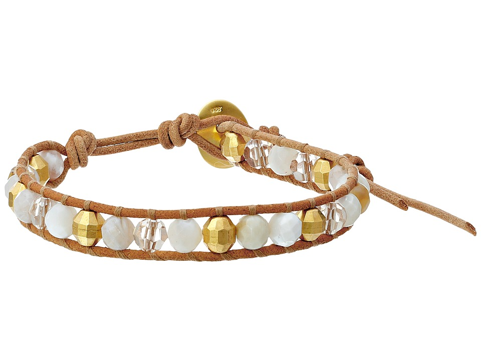 Chan Luu - 6 Semi Precious Single (White Mix/Beige) Bracelet
