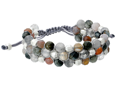 Chan Luu - 6 1/2 Three Row Semi Precious Single (Grey Mix) Bracelet