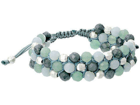 Chan Luu - 6 1/2 Three Row Semi Precious Single (Teal Mix) Bracelet