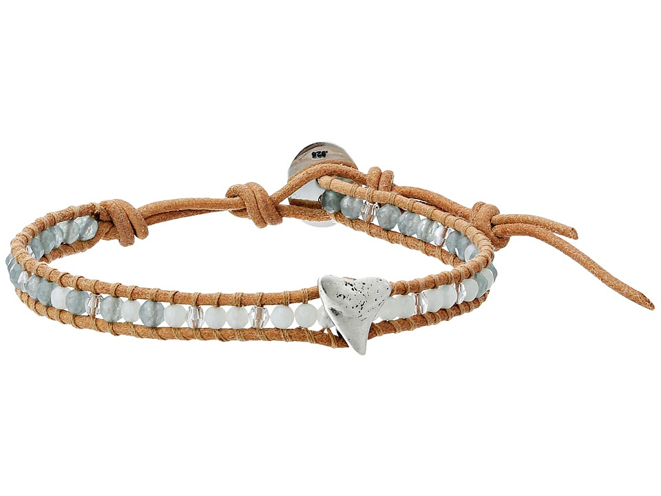 Chan Luu - 6 Semi Precious Single w/ Shark Tooth Charm (Amazonite Mix/Beige) Bracelet