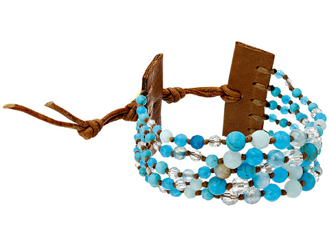 Chan Luu - 6 1/4 Multi Strand Single (Aqua Mix/Thrush) Bracelet