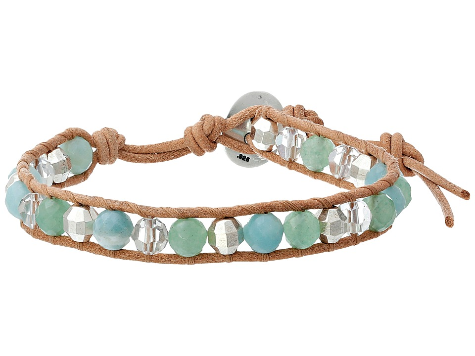 Chan Luu - 6 Semi Precious Single (Amazonnite Mix/Beige) Bracelet
