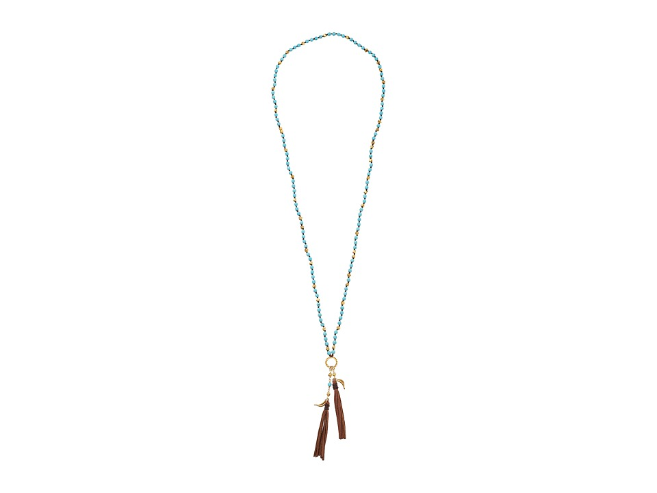 Chan Luu - 32 Necklace w/ Tassle (Turquooise) Necklace