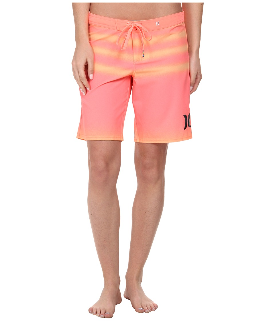 Hurley - Phantom Printed 9 Boardshorts (Lava Glow) Women's Swimwear