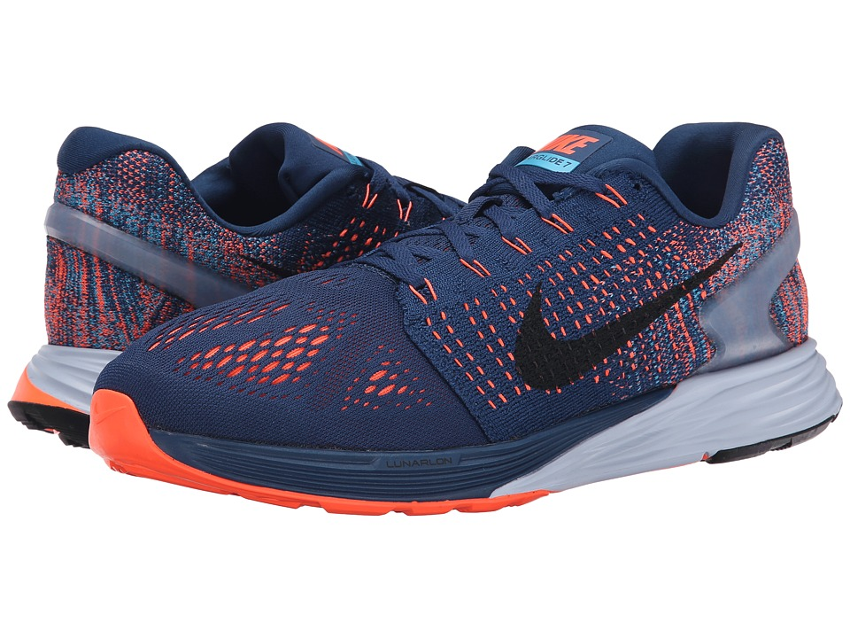 Nike - Lunarglide 7 (Brave Blue/Blue Lagoon/Hyper Orange/Black) Men
