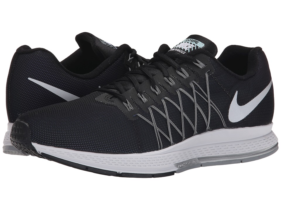 Nike - Air Zoom Pegasus 32 Flash (Black/Pure Platinum/Cool Grey/Refelct Silver) Men's Running Shoes