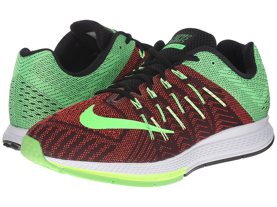 Nike - Air Zoom Elite 8 (Black/Bright Crimson/Ghost Green/Green Strike) Men