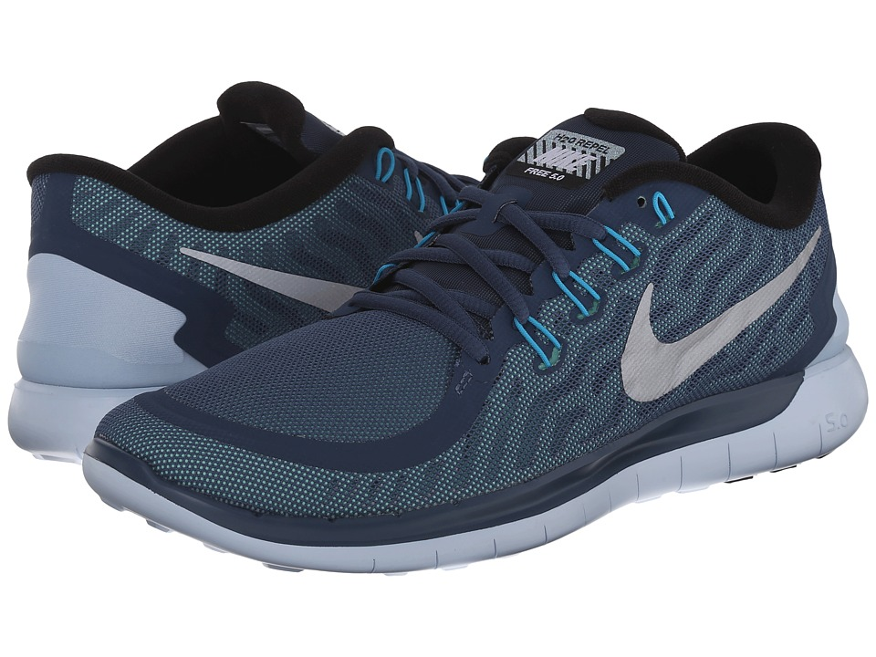 Nike - Free 5.0 Flash (Squadron Blue/Blue Lagoon/Green Glow/Reflect Silver) Men's Running Shoes