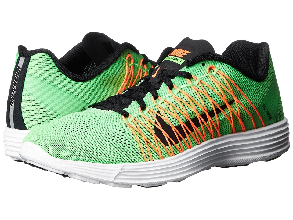 Nike - Lunaracer+ 3 (Green Strike/Hyper Orange/White/Black) Men