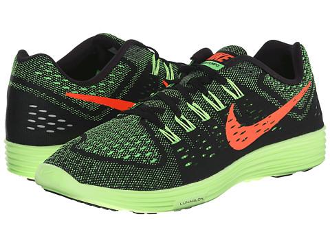 Nike - LunarTempo (Black/Green Strike/Ghost Green/Hyper Orange) Men