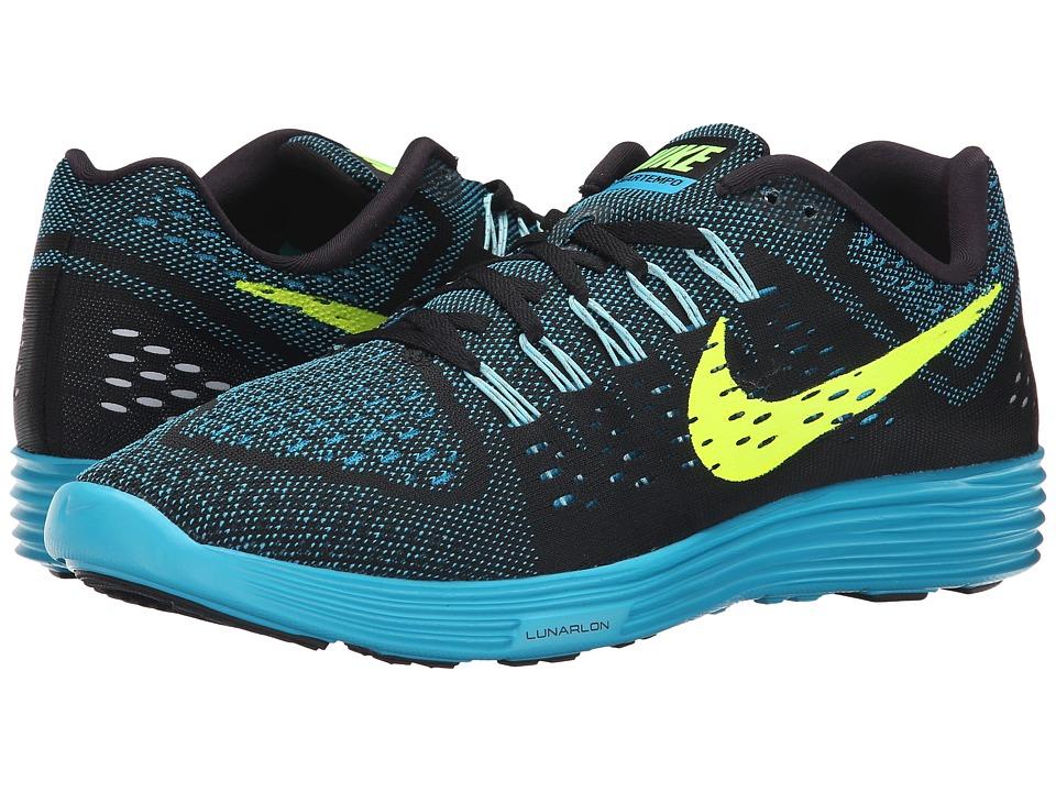 Nike - LunarTempo (Black/Blue Lagoon/Copa/Volt) Men