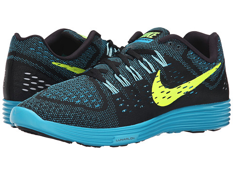 Nike - LunarTempo (Black/Blue Lagoon/Copa/Volt) Men's Running Shoes