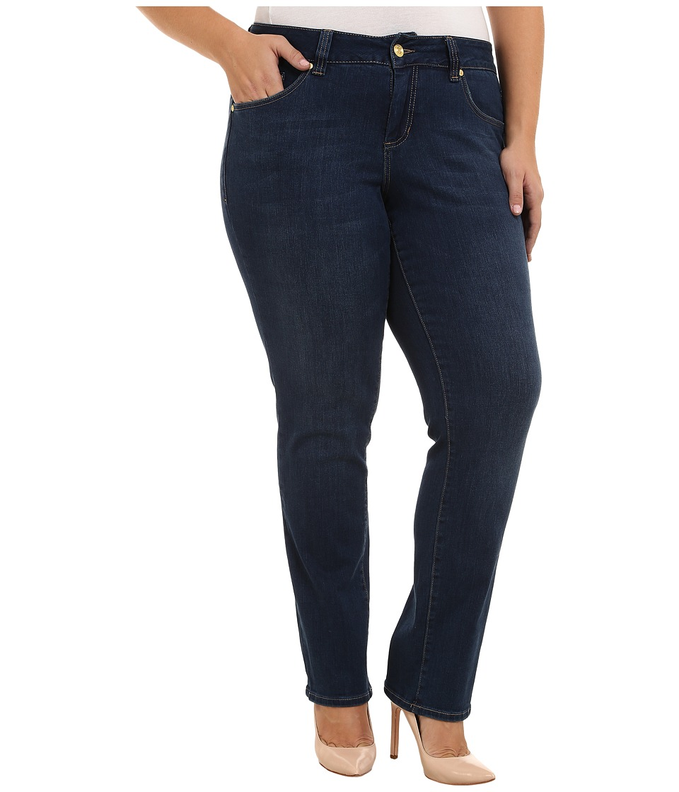 Jag Jeans Plus Size - Plus Size Patton Mid Rise Straight Jeans in Blue Shadow (Blue Shadow) Women