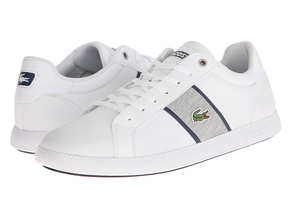 Lacoste - Graduate Evo GRV (White/Dark Blue) Men's Shoes