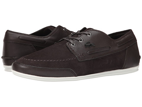 Lacoste - Misano Boat 4 (Dark Brown) Men's Shoes