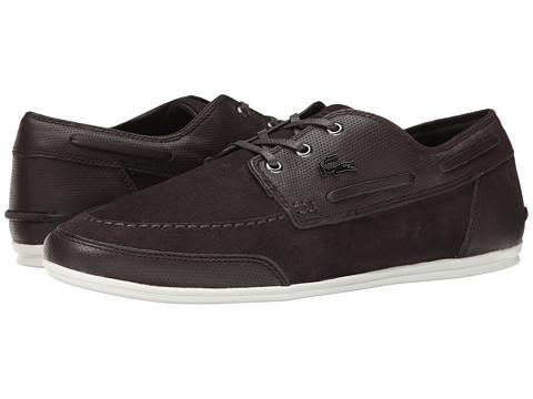 Lacoste - Misano Boat 4 (Dark Brown) Men's Shoes
