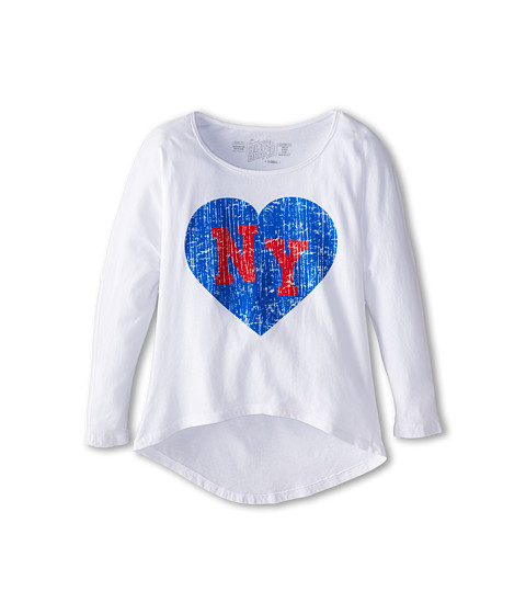 The Original Retro Brand Kids - NY Hi Low Dolman (Big Kids) (White) Girl