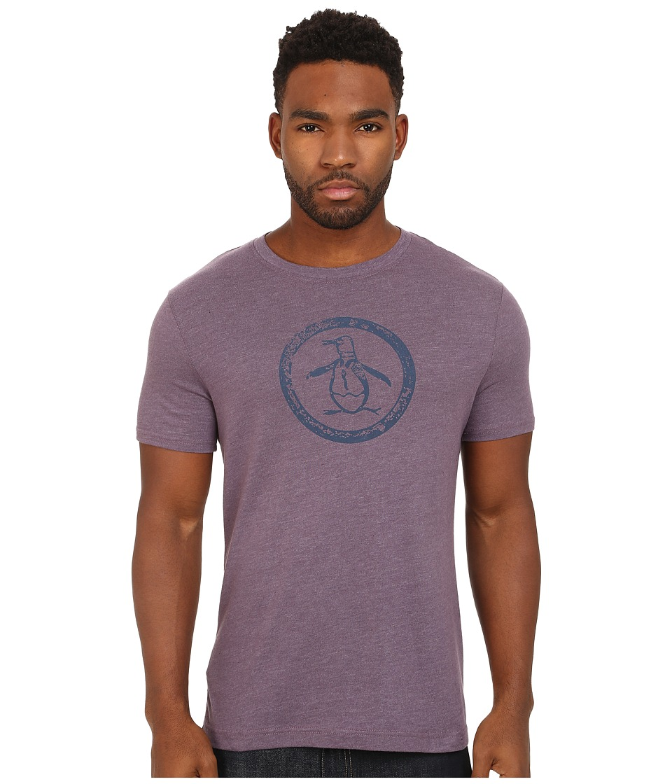 Original Penguin - Triblend Distressed Circle Logo Tee (Italian Plum) Men's T Shirt