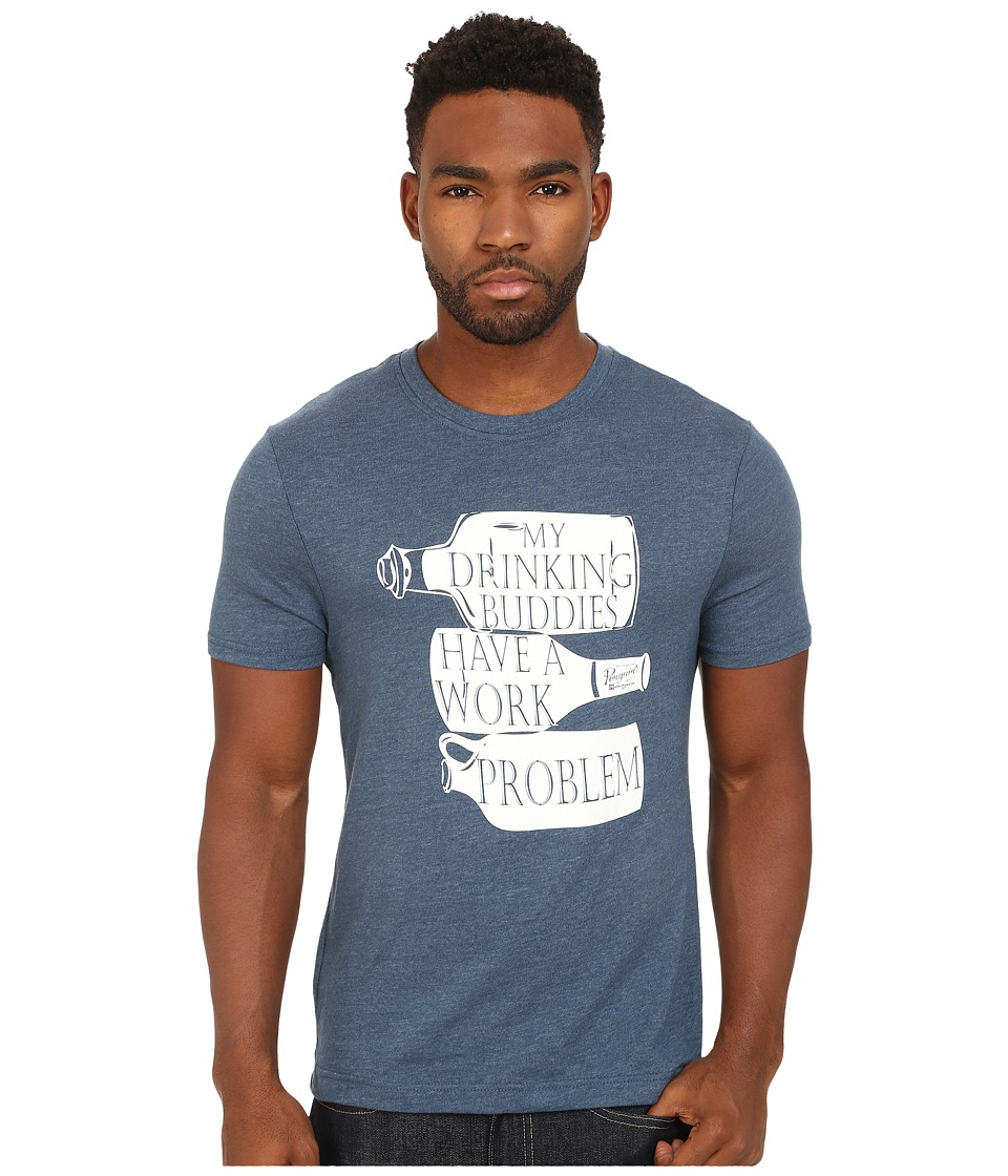 Original Penguin - The Drinking Buddies Heritage Tee (Dark Denim) Men