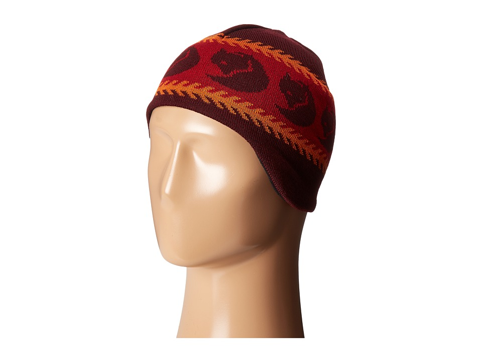 Fj llr ven Kids - Kids Knitted Hat (Dark Garnet) Knit Hats