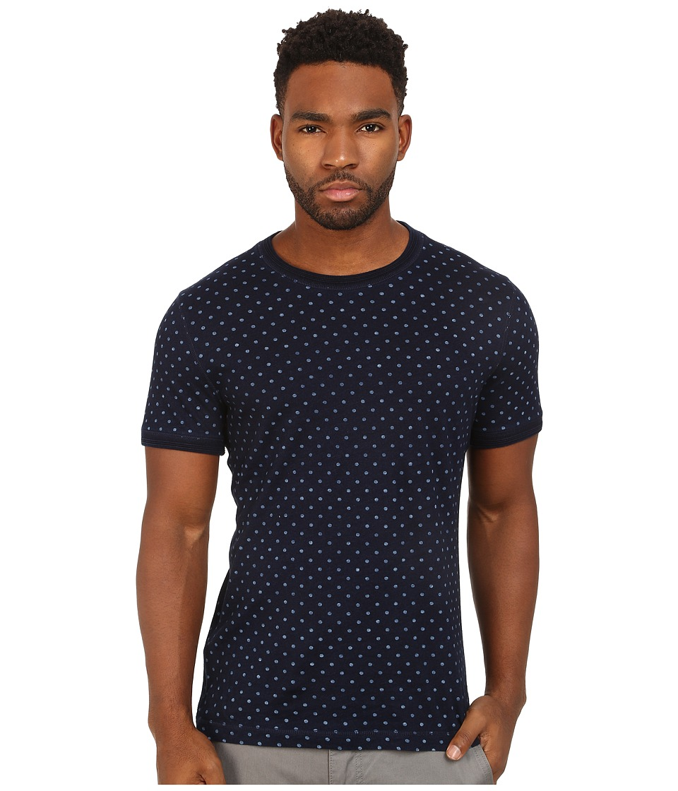 Original Penguin - Indigo Polka Dot Heritage Tee (Dark Denim) Men