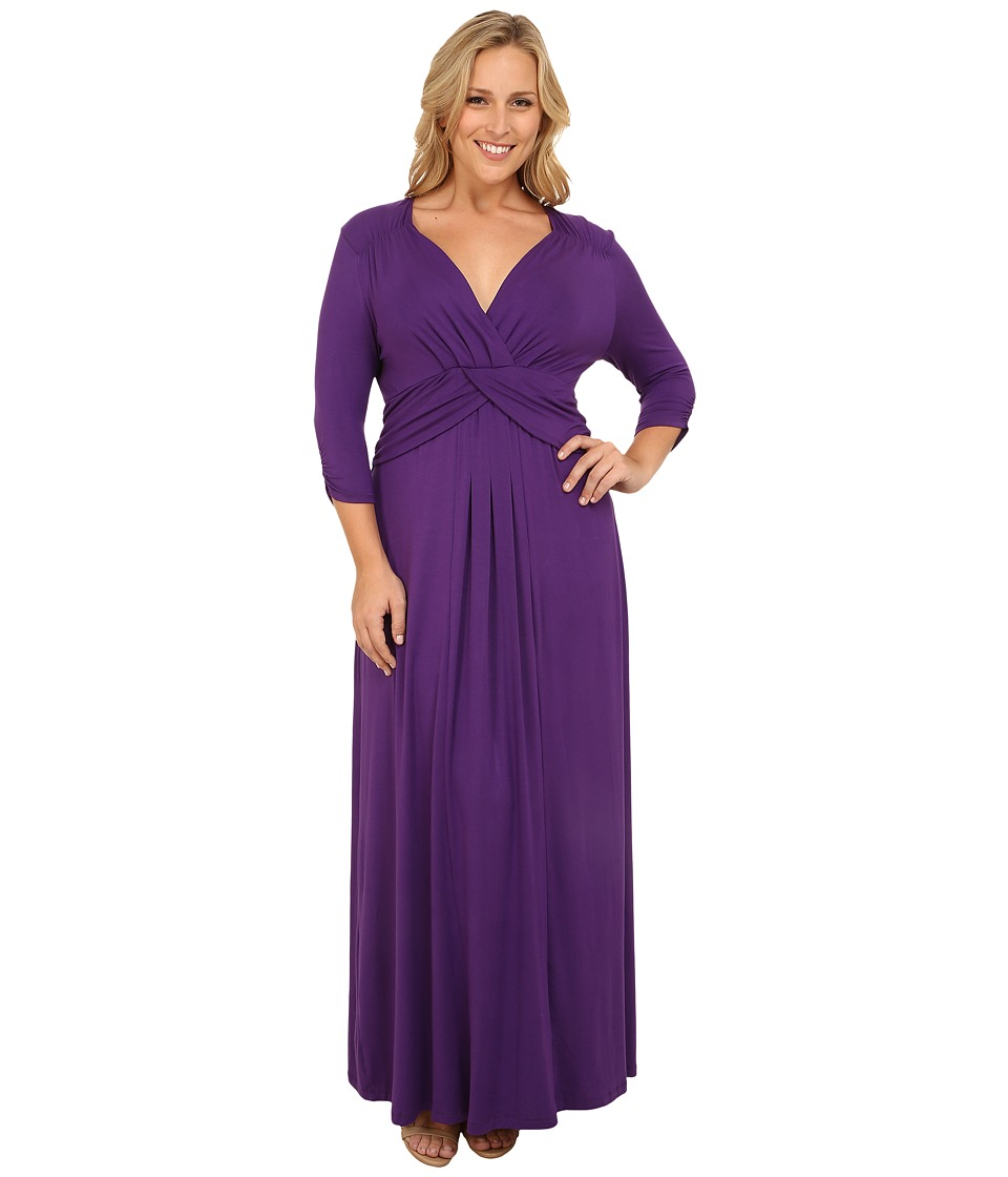 Kiyonna - Desert Rain Maxi Dress (Majestic Purple) Women