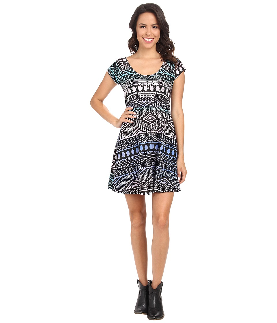 Rock and Roll Cowgirl - Short Sleeve Knit Dress 19-3391 (Royal) Women's Dress