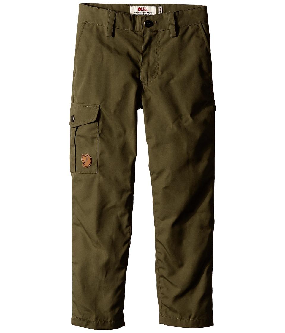 Fjallraven Kids - Kids Ovik Trousers (Green) Kid's Casual Pants