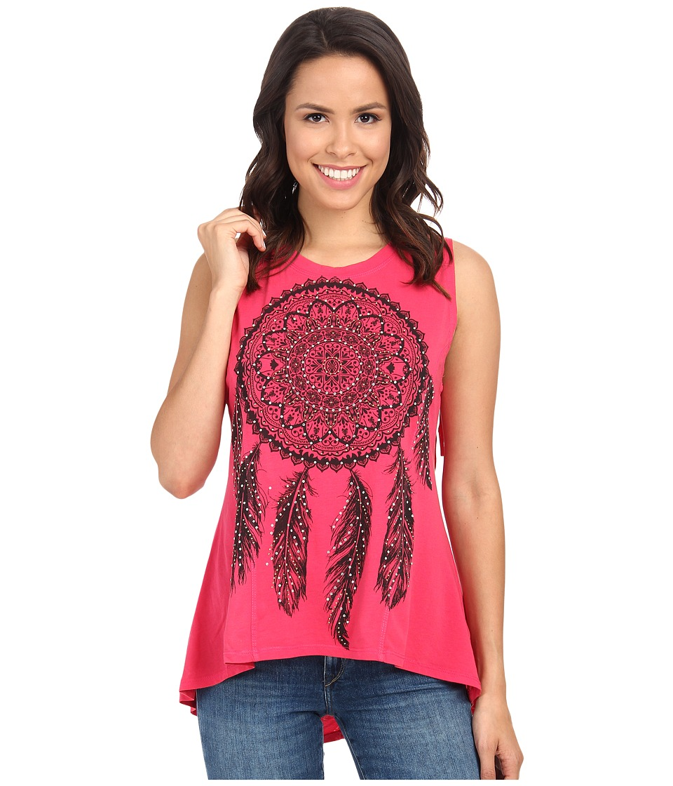 Rock and Roll Cowgirl - Knit Tank Top 49-3418 (Coral) Women